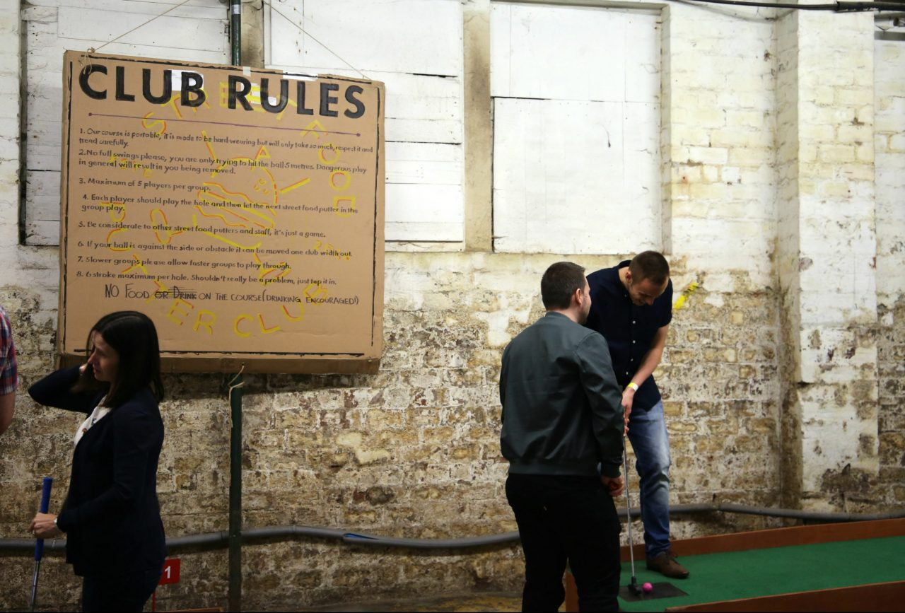 Putting, ping pong and pork belly bao – introducing the Street Food Putter Club